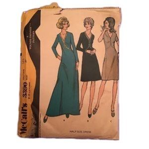Vtg UNCUT McCalls A Pounds Thinner Dress Pattern